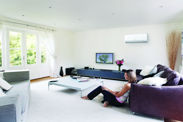 Mitsubishi wall mounted heat pump