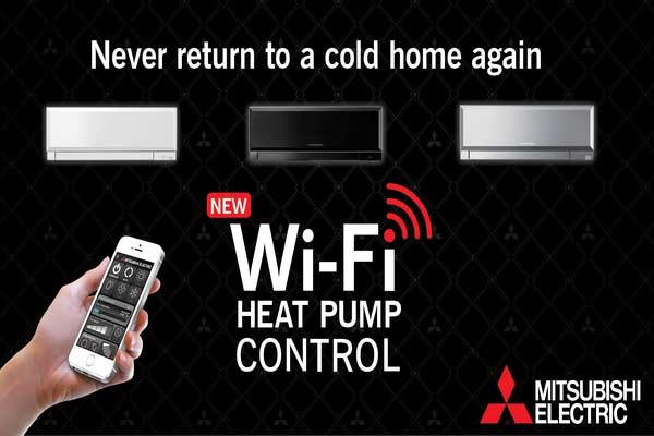 Mitsubishi Wi-Fi Heat Pump Control