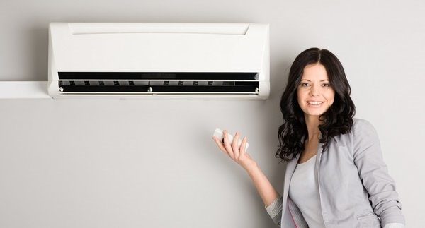 girl with heat pump control