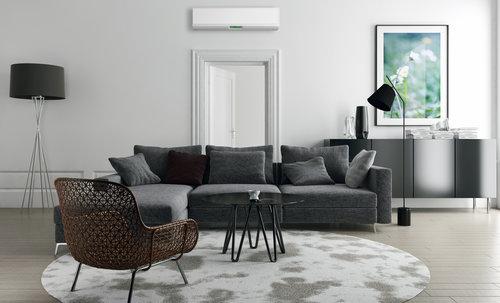modern room with heat pump