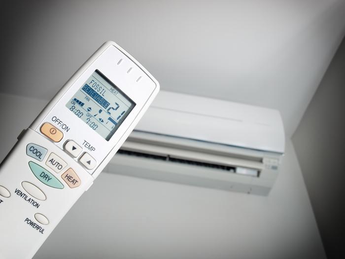 heat pump and remote control