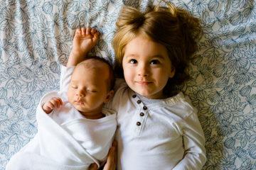 brother with newborn