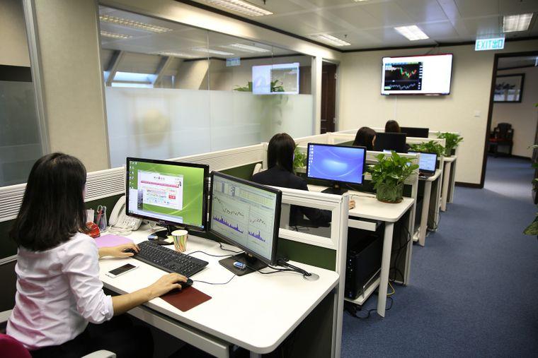 staff in office