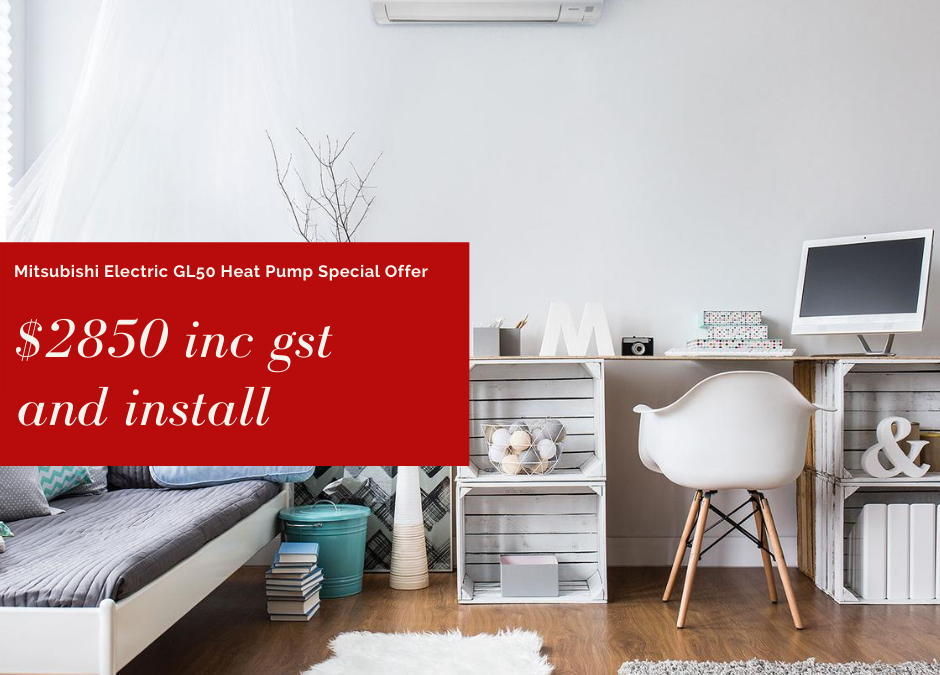 GL50 Super Energy Efficient High Wall Mounted Heat Pump – Special Offer