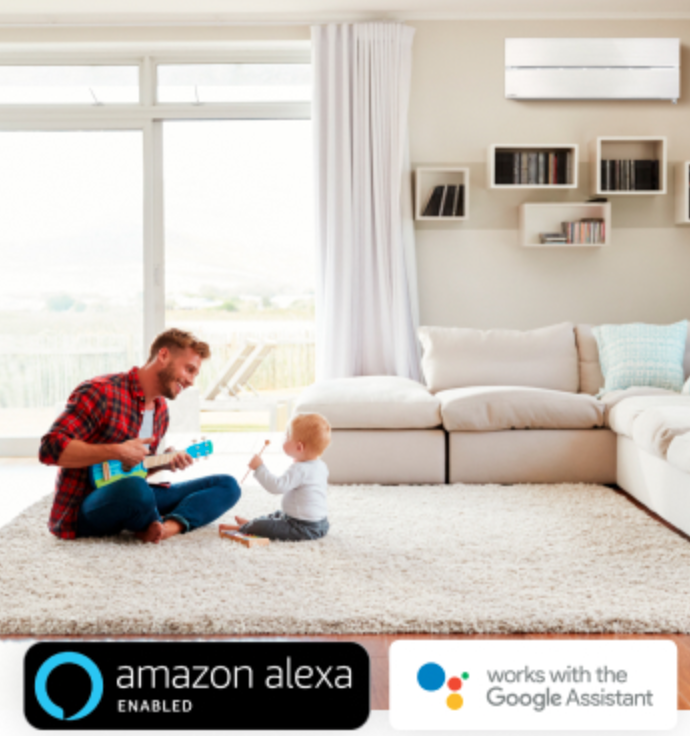 control your heat pump hands free with amazon Alexa